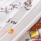 印刷された綿の寝室の寝具のキルトカバーシーツ