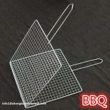 Ordinateur portable en acier inoxydable panier de cuisson barbecue barbecue maille avec poignée en métal