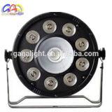 Guangzhou-Hersteller LED flache NENNWERT Summen-Stadiums-Licht DES NENNWERT-64 helles 9PCS 10W RGBW LED für DJ-Gerät