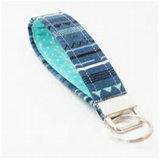 Metallo caldo personalizzato RFID dell'anello dell'anello chiave del tessuto dell'OEM di vendita
