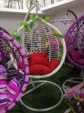 現代テラスの屋外の振動藤の屋外の二重振動卵の椅子