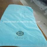Serviette de bain en coton blanc avec broderie logo