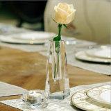 Nouveau design de gros de Fleur de Cristal Vase en verre pour la décoration d'accueil