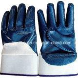 Манжета для обеспечения безопасности для тяжелого режима работы вещевого ящика синий нитриловые перчатки из хлопка с покрытием