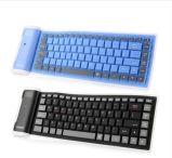 Tastiera senza fili di gioco di Bluetooth della mini tastiera pieghevole molle universale del silicone