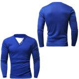 Longs T-shirts fortement ajustés de chemise du V-Collet le plus neuf (A407)