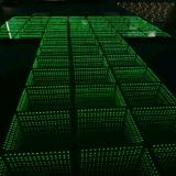 scintillement portatif Dance Floor de l'illusion DEL d'infini du miroir 3D de 50X50cm