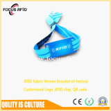 Impresión a todo color tejida disponible del Wristband de RFID para el control de acceso