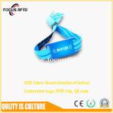 Wristband /Woven устранимый RFID ткани с логосом напечатал