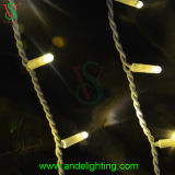 LED Rubber Cable Icicle Lights for Christmas Holiday Wall Decoration
