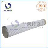 Filtro a sacco pieghettato caricatore inferiore per industria di cemento