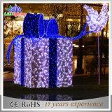 Indicatore luminoso di festa dei contenitori di regalo di motivo della decorazione 3D di natale LED