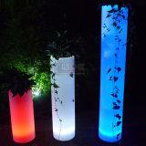 옥외 플라스틱 Cashepot LED 가구 정원 LED 빛