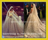 Vestito da cerimonia nuziale di cristallo di cristallo di lusso nuziale arabo del merletto dell'abito di sfera H201652