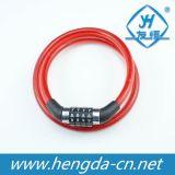 Yh1220 Combinaison à 4 chiffres rouge serrures vélo long câble de verrouillage de vélo