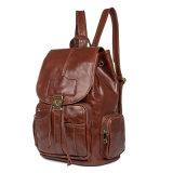 2018 новых прибытия модным дизайнером сумка из натуральной кожи коричневого цвета рюкзак для женщин