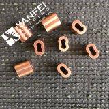 Nouveau style de la douille en laiton ovale métallique en laiton et 8 de la forme férule en laiton
