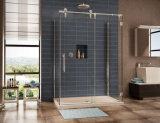Дешевая раздвижная дверь матированного стекла для комнаты ливня