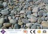 포장 및 정원을%s 까만 Polished 자연적인 강 돌