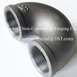 Cotovelo rosqueado dos encaixes de tubulação do aço inoxidável de aço de carbono soldadura sem emenda