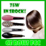 Nuovo Arrive con affissione a cristalli liquidi Display Hair Straightener Brush