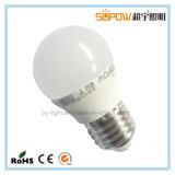3W ningún bulbo de aluminio del plástico E27 LED del programa piloto del IC del parpadeo