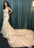 Платья венчания Mermaid шнурка повелительниц Китая Bridal Wedding платье мантии