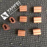 Nuevo estilo de metal de latón de latón Oval de la manga y el 8 de la forma de casquillo de bronce