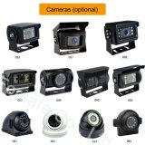 7-duim Systeem van de Camera van de Auto van de Monitor van de Vierling Rearview met de Visie van de Nacht