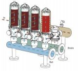 """3"""" T Tipo Disco Backflush automática do Sistema de filtração para a rega gota a gota"""