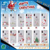 Weihnachtsgeschenk-TPU gedruckter Kasten für Rand-Fall Samsung-S7