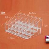 Maquillage Cosmétique Organisateur de rouge à lèvres Clear Acrylic 24 tiroirs Vitrine Boîte de rangement