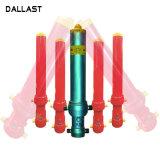 Однократное действие сварной гидравлический плунжер цилиндр для погрузчика