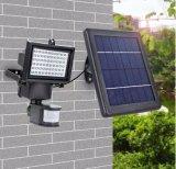 Projecteur solaire extérieur blanc chaud de jardin de DEL
