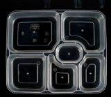 6 scompartimento a gettare Bento/pasto/contenitore di arachidi con i coperchi liberi/coperchio