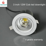 12W al por mayor de 3 pulgadas LED de luz tenue, COB COB Downlight LED LED de AEA, luz tenue COB