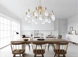12 빛 현대 금속 거실을%s 장식적인 거는 펀던트 샹들리에 램프 점화