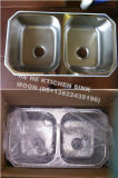 50/50 doppio di dispersore di cucina della ciotola, lavata Baisn 8853A