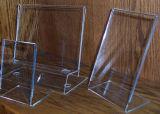 L présentoir acrylique de menu de forme