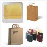 Plegado de papel de color personalizada Bolsa de compras bolsa de papel adhesivo pegamento