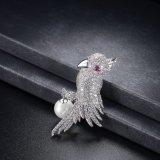 Broche van de Juwelen van de Manier van de Parel van de Vogel van Korea van het Kristal van CZ de Dierlijke