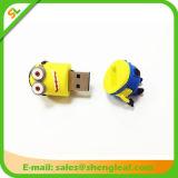 Movimentação Flash USB de borracha personalizada para promoção (SLF-RU004)