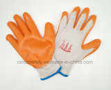 Хлопок перчатки, гладкая отделка с покрытием из латекса