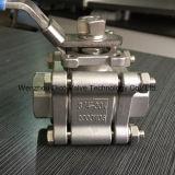 válvula de esfera de alta pressão de 2000psi /2000wog 3PC