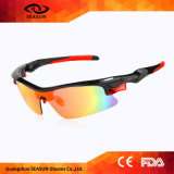 Óculos de sol polarizados dos esportes UV400 ao ar livre para óculos de sol das mulheres dos homens
