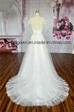 Полнометражный a - линия платье венчания шнурка