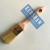 Paint Brush (Pinceau, Pinceau plat poils blancs avec poignée en bois de hêtre)