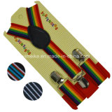Venda por atacado Fashion Stripes Kids Elastic Braces Suspender