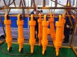 Cilindro hidráulico cromado telescópico de vários estágios da taxa para moedores do coto