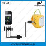 luz 2W de acampamento solar com o carregador do telefone do USB